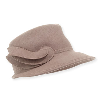 Leaf Felted Wool Hat, Size: ONE SIZE,