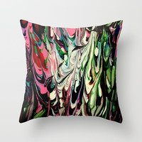 Psychedelic Flow Throw Pillow by Jveart
