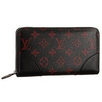 Louis Vuitton Monogram Infrarouge Zippy Wallet Black
