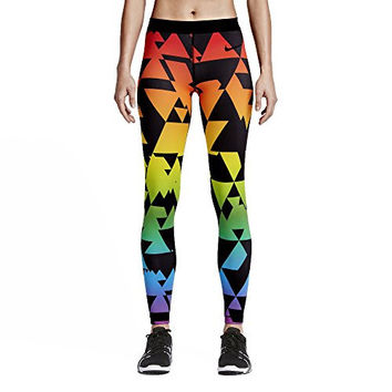 Nike Pro BeTrue LGBT 842570-010 Black/Multi-Color Dri-FIT Women's Training Tights (size Medium)