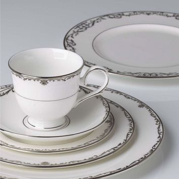 Lenox Coronet Platinum Scroll & Leaf Handcrafted China Collection | Dillards