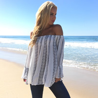 Time Travel Off Shoulder Blouse