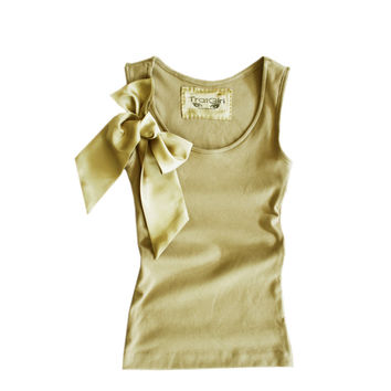 Womens top tan nude bow top by tratgirl valentino by tratgirl55