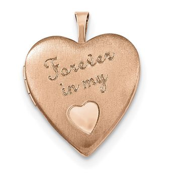 Sterling Silver Rose Gold-plated 20mm Forever in my Heart Locket