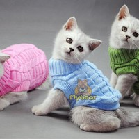 NEW Dog Cat Sweater Sphinx Cat Coat Spagetti Warm Autumn Winter Dog Cat Sweater Pet Jumper Cat Clothes For Small Cat Dog Pets
