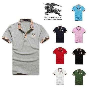 UCANUJ3V Hot Sale Burberry MEN Polo Shirt 100% COTTON TOP