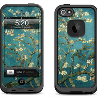 Lifeproof iPhone 5 5S 5C Fre Nuud Case Decal Skin Cover - Van Gogh Blossoming Almond Tree  - Lifeproof iPhone 4 4S Fre Case Decal