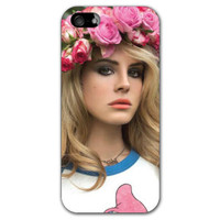 Lana Del Rey Flowers iPhone 5 Case