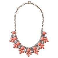 Coral Crystal Mermaid Necklace