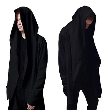 Casual Men's Hooded With Black Gown Sudaderas Hombre