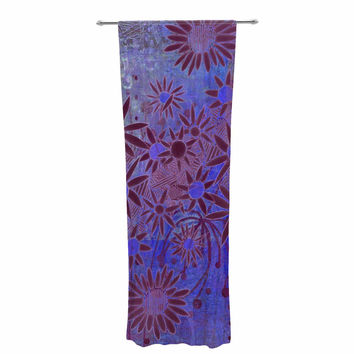 "Marianna Tankelevich ""Purple Night"" Purple Blue Decorative Sheer Curtain"