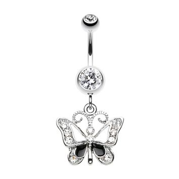 Butterfly Delight Belly Button Ring