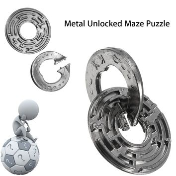 Metal Unlocked Maze Puzzle Labyrinth IQ Mind Brain Teaser Educational Toy Gift Puzzle Game Toy For Children Kids
