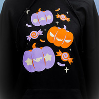 Pumpkin Gang Halloween Inspired Hoodie Hooded Sweatshirt Kawaii Fairy Kei Pastel Goth