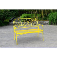 Hello Sunny Outdoor Patio Bench