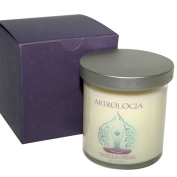 Astrologia VANILLA CREME Soy Candle 8 oz with Gift Box