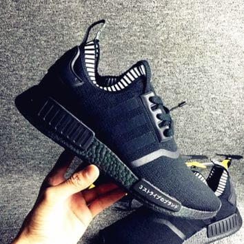 "Women ""Adidas"" NMD Boost Casual nmd Sports Shoes Black"