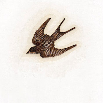 bird art minimalist fine art woodburning by TheHauntedHollowTree