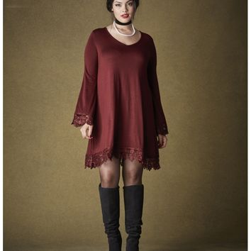 Simply Be Lace Trim Babydoll Tunic