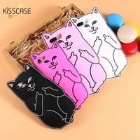 KISSCASE 3D Pocket Cat Silicone Case For iPhone 7 6 6s Plus 5S Cases Ripndip Back Cover For iPhone 8 7 6 6s Plus 5s 5 SE Shells
