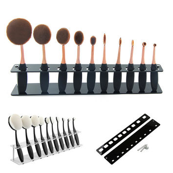 1PC New Cosmetic Makeup Brush Display Holder For 10Pcs Toothbrush Foundation Brush Shelf Hot Sale