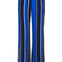 Blue Stripe Slouch Trousers - New In