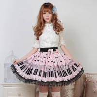Japanese sweet lolita pleated lace skirts