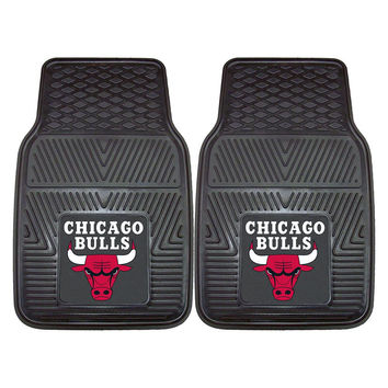 Chicago Bulls NBA Heavy Duty 2-Piece Vinyl Car Mats (18x27)