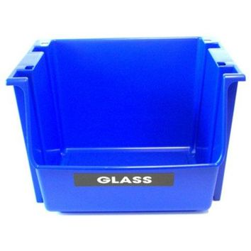 ECO Sense® SB0028 Blue Recycling Stack Bin, Polypropylene Resin