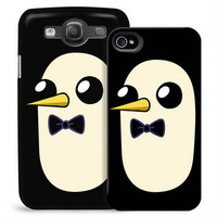 Adventure Time Gunter Black Phone Case for iPhone and Galaxy |