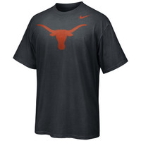 Nike Texas Longhorns Carbon Fiber Logo T-Shirt - Charcoal