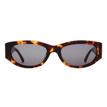 Crap Eyewear - Funk Punk Dark Tortoise Sunglasses / Grey Lenses