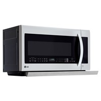 Shop LG 2.2-cu ft Over-The-Range Microwave with Sensor Cooking Controls (Stainless Steel) (Common: 30-in; Actual: 29.86-in) at Lowes.com