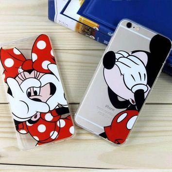 For Iphone 6 6s Cases Cute Cartoon Mickey Minnie Daisy Donald Phone Case Cover For Iphone 6 6s 4.7 Inch Soft Tpu 2016 New