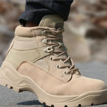 Outdoor Desert Boots The U.S. Military Assault Boots Breathable Wear Slip Men Casual Travel Shoes Botas Tacticas