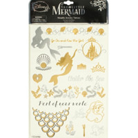 Disney The Little Mermaid Metallic Temporary Tattoos