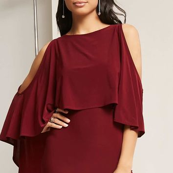 Split Flounce Dress