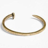 Men's Giles & Brother Railroad Spike Cuff Bracelet - Gold