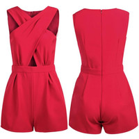 Fashion Rompers Women's V Neck Bodycon Jumpsuit Trousers Clubwear Party Clothes