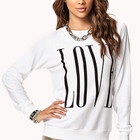 Love Raglan Sweatshirt