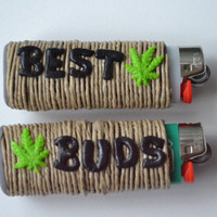 Best Buds Marijuana Leaf Friendship Lighter by BowsBeforeHose
