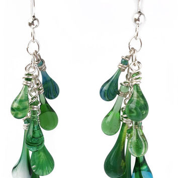 Greenery Waterfall Earrings
