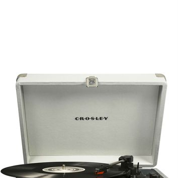 Crosley Cruiser Deluxe Retro Bluetooth Turntable - White Sand - PRE-ORDER, SHIPS in MAY