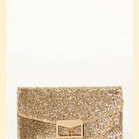 Glitz & Glamour Clutch in Gold
