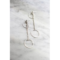Minimal Circle Bar Earrings - Christine Elizabeth Jewelry