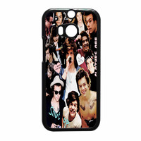 Harry Styles One Direction Collage Clothes Off HTC One M8 Case