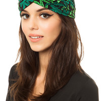 The Mary Jane Turban in Green
