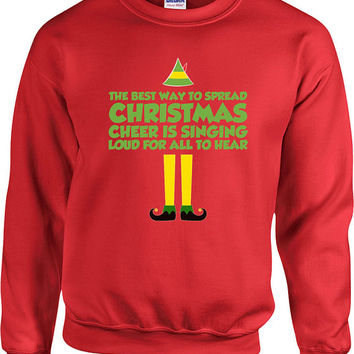 Funny Christmas Sweater Buddy The Elf Sweater Christmas Presents Holiday Season Ugly Xmas Sweater Elf Sweater Unisex Hoodie - SA410