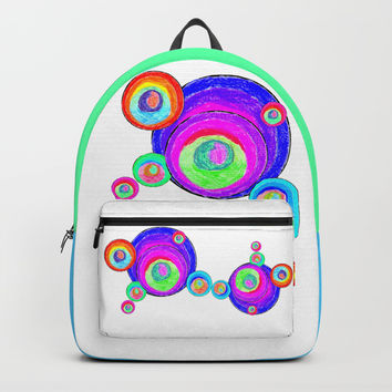 Colorful Secret Geometry | painting by Elisavet #society6 Backpack by Azima