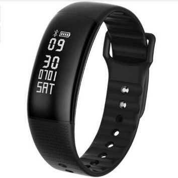 Smart Watch Bluetooth 4.0 Waterproof Sports Wristband Blood Pressure Heart Rate Monitor Remote Camera For Android 4.4 IOS 8.0